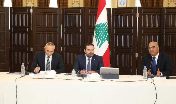 الحريري: لاتخاذ التدابير اللازمة لتفادي وقوع مشكلة تصريف مياه الامطار واختلاطها بالمياه الآسنة