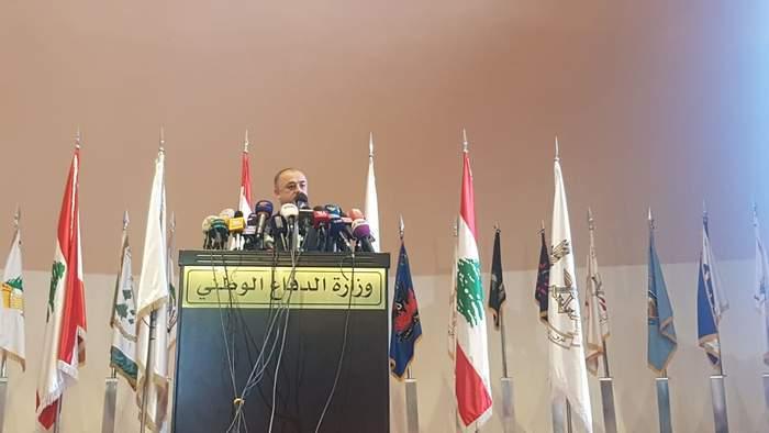 بالصور: بو صعب يطلع الرأي العام اللبناني على تفاصيل التحقيقات المتعلقة بالطائرتين المسيرتين الإسرائيليتين