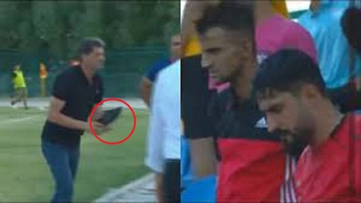 بالفيديو: مدرب يقذف مشجعاً بحذائه في الدوري العراقي