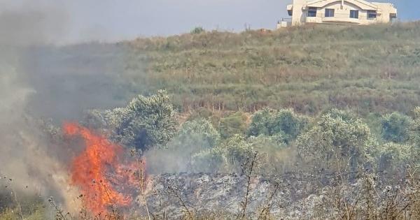 حريق في محيط موقع القرن قبالة بلدة كفرشوبا