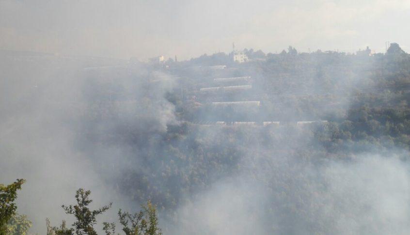 حريق في الكويخات بالقرب من المنازل أهمده الدفاع المدني