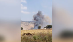 انفجار 3 الغام اثر الحريق في محلة غاصونة في خراج بلدة بليدا