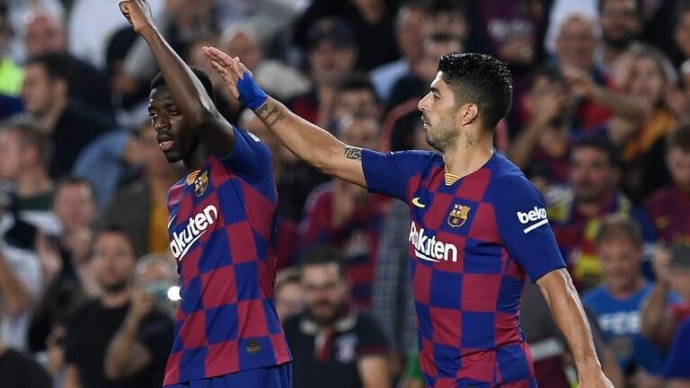 قبل الكلاسيكو.. برشلونة يخسر جهود ديمبلي بسبب الإيقاف