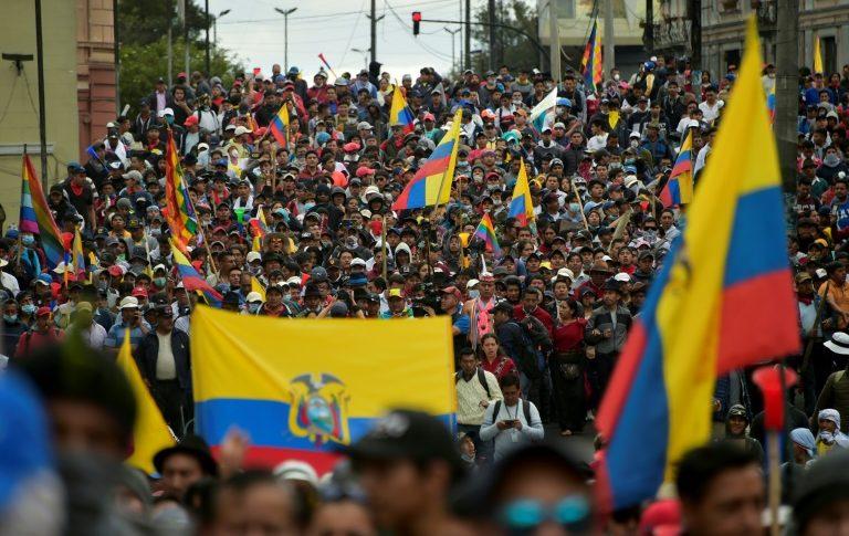آلاف يتظاهرون في عاصمة الاكوادور وسط انتشار القوات الأمنية