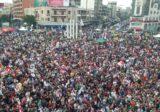 """المحتجون في ساحة النور يهتفون الموت لـ""""اسرائيل"""""""