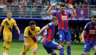 الدوري الاسباني: برشلونة يفوز بثلاثية نظيفة على مضيفه إيبار