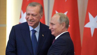 الرئاسة التركية: أردوغان يلتقي بوتين في 22 الحالي في موسكو