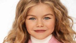 """بالفيديو والصور: عارضة أزياء روسية توصف بـ""""أجمل طفلة في العالم"""""""