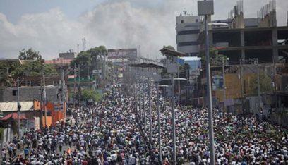 تظاهرة في هايتي للمطالبة باستقالة الرئيس جوفينيل مويس