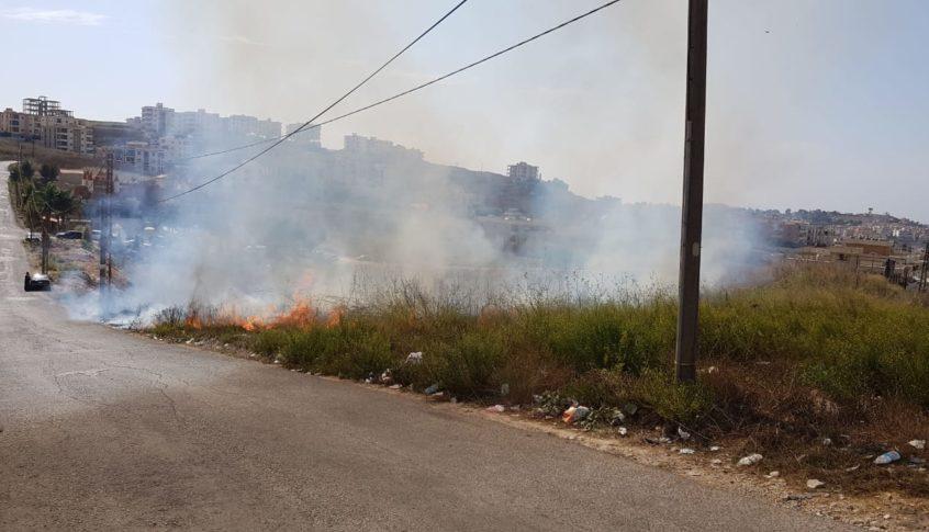 اهماد حريق في تول-النبطية التهم مساحات من الاعشاب والأشجار