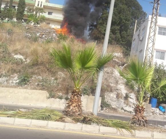 حريق في خراج المصيلح