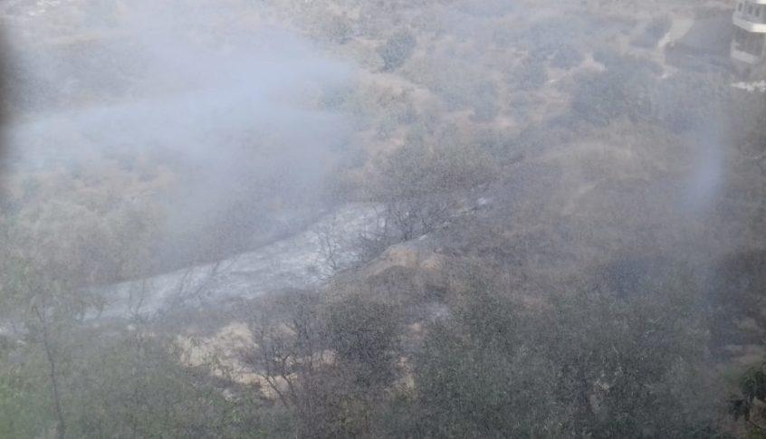 تجدد الحريق في بلدة الشيخ محمد