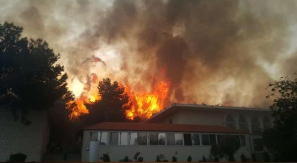 تراجع حدة الحرائق في بعورته مع بدء هطول الأمطار
