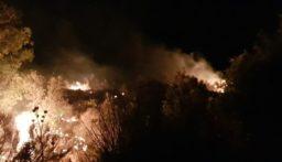 حريق في جبال الأربعين – الضنية والدفاع المدني يعمل على اهماده