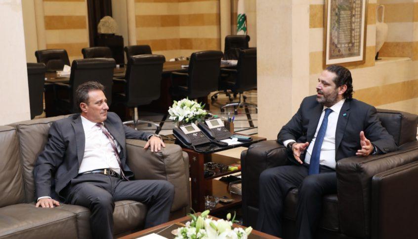 الحريري استقبل السفير القبرصي وشكره على الطوافات التي أرسلتها قبرص للمساهمة في إهماد الحرائق في لبنان