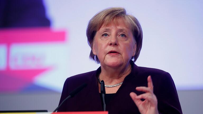 الحكومة الألمانية: ميركل دانت الهجمات غير المسؤولة على الوحدات التركية بسوريا