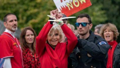 القبض على جين فوندا للمرة الرابعة بسبب مظاهرات البيئة