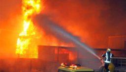حريق داخل غرفة في السبتية