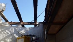 حريق خيمة للنازحين السوريين في قب الياس