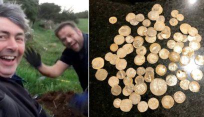 """بالفيديو: صدفة تقود إلى """"كنز بـ100 ألف إسترليني"""" تحت الأرض!"""
