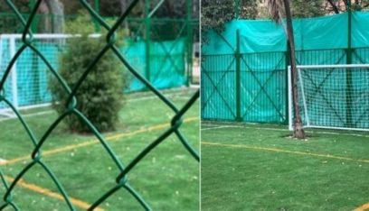 بالفيديو: شجرتان تحلان مكان حراس المرمى في ملعب كرة قدم