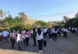تجمع للطلاب في الشارع الروماني في جبيل