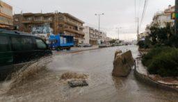أمطار غزيرة ومجار سيلية في بعلبك