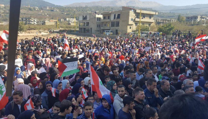 مسيرة طالبية من 11 مدرسة جابت شوارع فنيدق