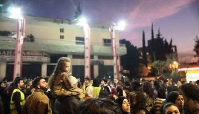 المعتصمون في حلبا احتفلوا بعيد الاستقلال