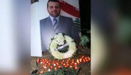 عائلة علاء ابو فخر تقبلت التعازي بوفاته في ساحة الشهداء