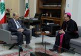 الرئيس عون عرض والسفير البابوي الاوضاع العامة في البلاد