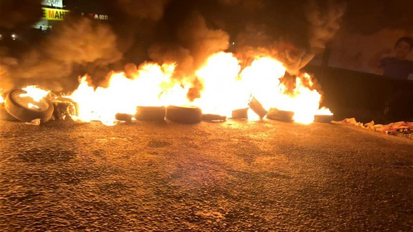 الجيش اللبناني أعاد فتح الطريق الدولية عند مفرق بريتال