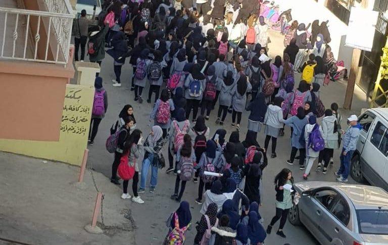 منظمات دولية ابلغت السلطات الرسمية قلقها من مشاركة اولاد في مسيرات من دون مرافقة ذويهم