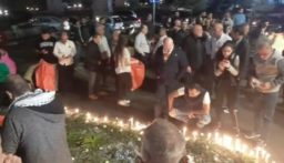 إضاءة الشموع في خلدة وصوفر بذكرى أسبوع أبو فخر