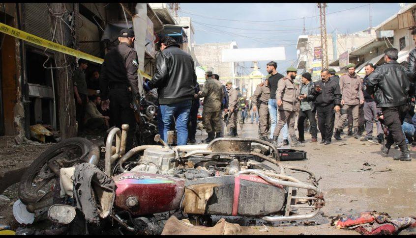 انفجار دراجة نارية  في ريف حلب
