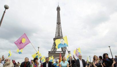 تظاهرات في باريس لمئات الاكراد المطالبين بفرض عقوبات على أنقرة