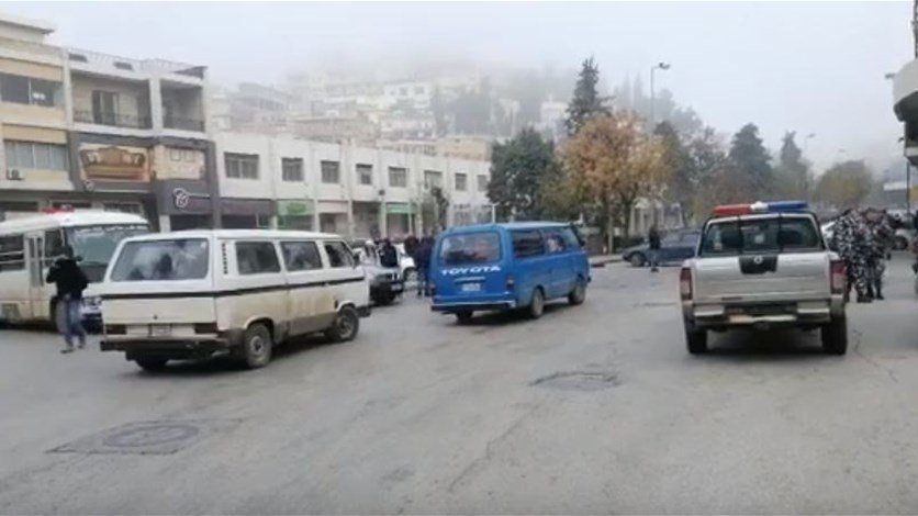 زحمة سير خانقة في الشوارع الداخلية في زحلة