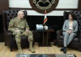 ماذا قالت ريا الحسن عن زيارتها لقائد الجيش؟