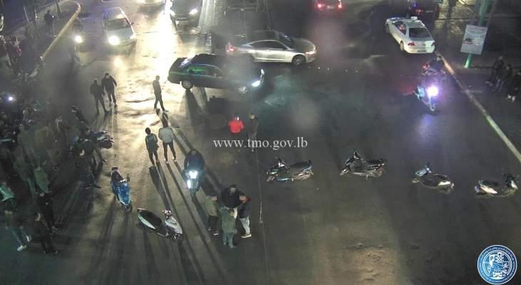 التحكم المروري: قطع الطريق على كورنيش المزرعة مقابل جامع عبد النّاصر