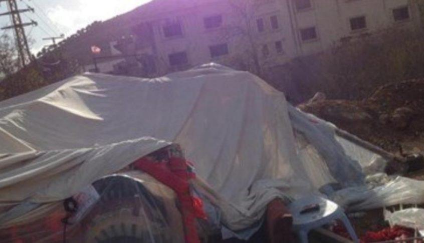 بدء التحقيق لتحديد سبب تحطم خيمة سوق الخان