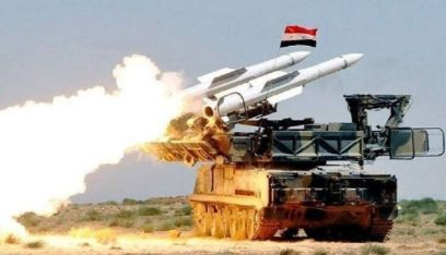 تصدي الجيش السوري لصواريخ اسرائيلية معادية في محيط مطار حماة العسكري