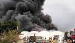 بالصور: حريق كبير في الزوق!