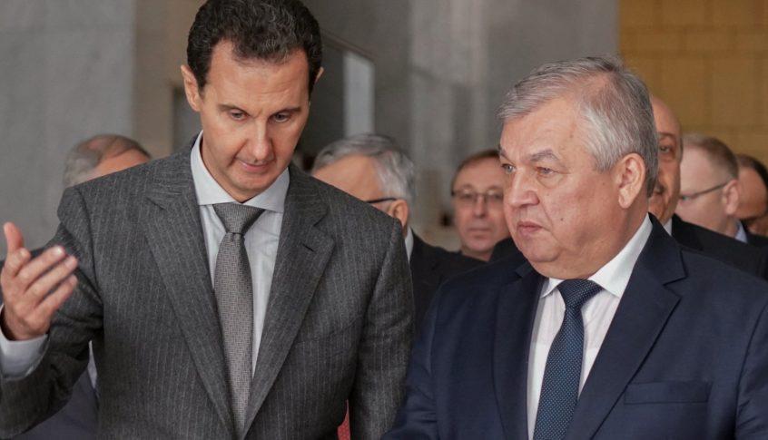 الأسد يبحث مع وفد روسي في العملية السياسية والتحضير للجولة المقبلة من محادثات أستانا