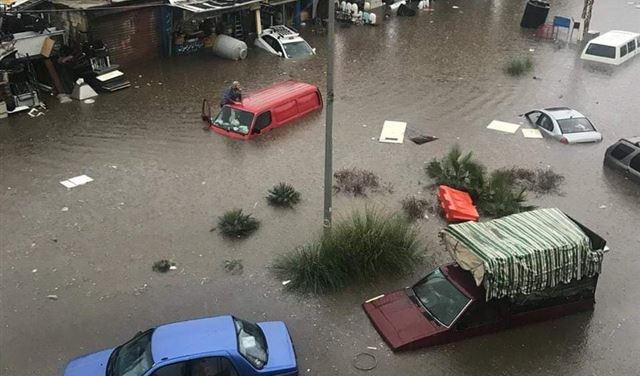 بلدية الغبيري: كمية الأمطار كانت كبيرة جدا والطريق الدولية ليست من صلاحية البلدية