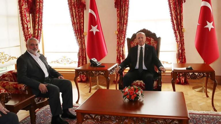 أردوغان التقي هنية في اسطنبول