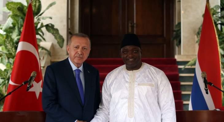رئيس غامبيا: نرغب بتطوير العلاقات مع تركيا بالمجالات كافة عبر الاستثمارات المباشرة