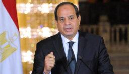 السيسي: سندعم ليبيا في حربها على الإرهاب وتدخلات بعض الجهات الإقليمية