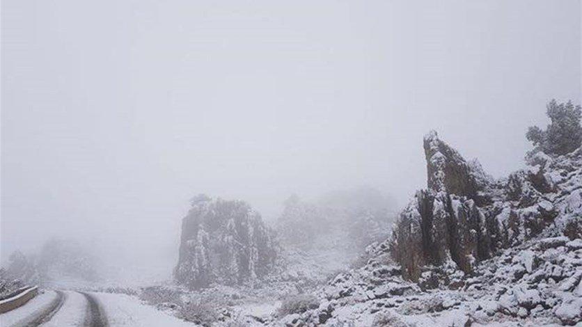 حال الطرقات الجبلية صباح الأحد…
