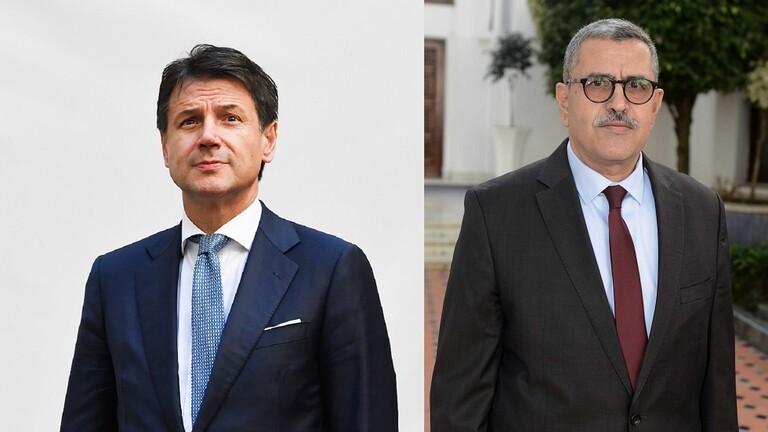 رئيس الوزراء الإيطالي يصل إلى الجزائر لبحث الأزمة الليبية
