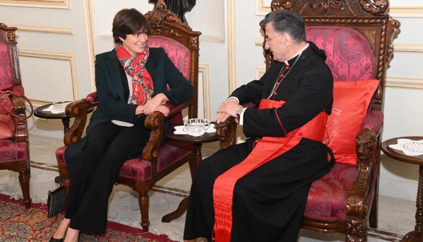 البطريرك الراعي استقبل السفيرة الكندية ايمانويل لامورو